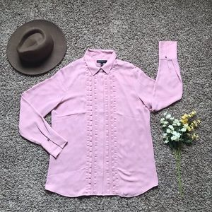 Banana Republic Pleated Front Button Down Blouse